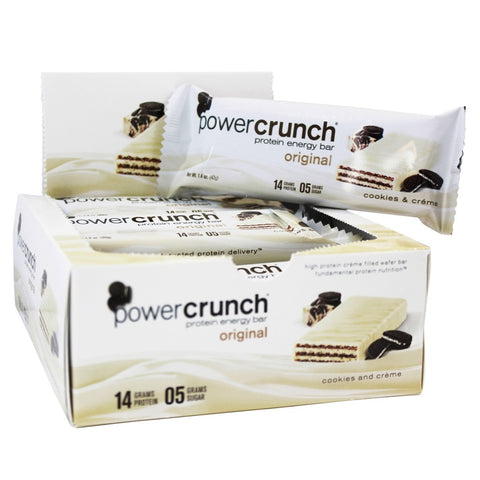 BNRG, Power Crunch Cookies and Creme 12-1.4 oz Cookies - Dentist.net