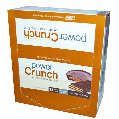 BNRG, Power Crunch Peanut Butter Fudge 12-1.4 oz Cookies - Dentist.net