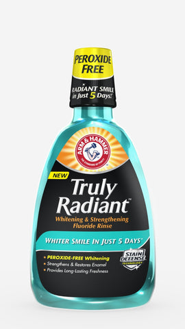Arm & Hammer Truly Radiant Whitening & Strengthening Fluoride Rinse 32oz - Dentist.net