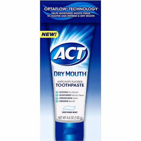 ACT Dry Mouth Anticavity  Fluoride Toothpaste - Dentist.net