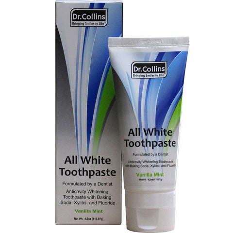 Dr.Collins All White Whitening Toothpaste - Dentist.net