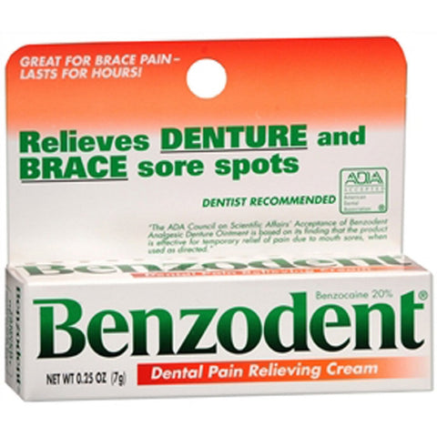 Benzodent Denture Pain Relieving Cream - Dentist.net