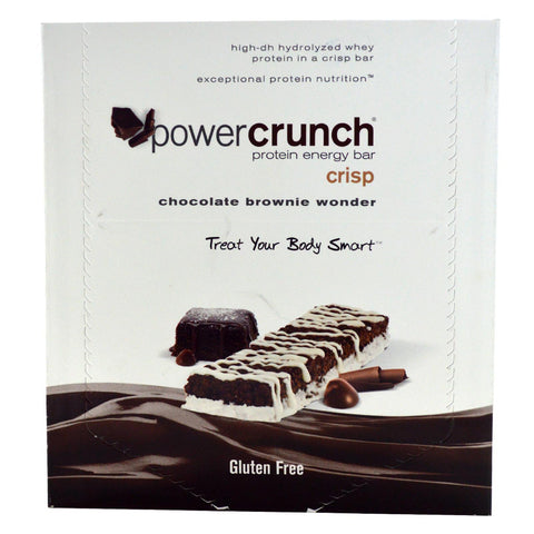 BNRG Power Crunch Chocolate Brownie Wonder 12-1.4 oz Protein Bars - Dentist.net