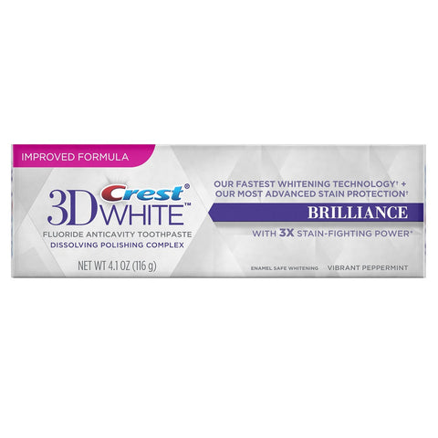 Crest 3D White Brilliance Vibrant Peppermint Toothpaste - Dentist.net