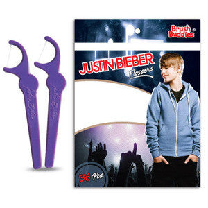 Brush Buddies Justin Bieber Flossers - Dentist.net