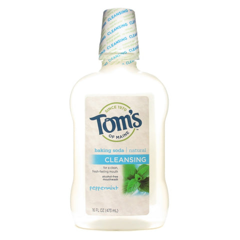 Tom's of Maine Natural Cleansing Mouthwash - Peppermint Baking Soda 16 oz - 1