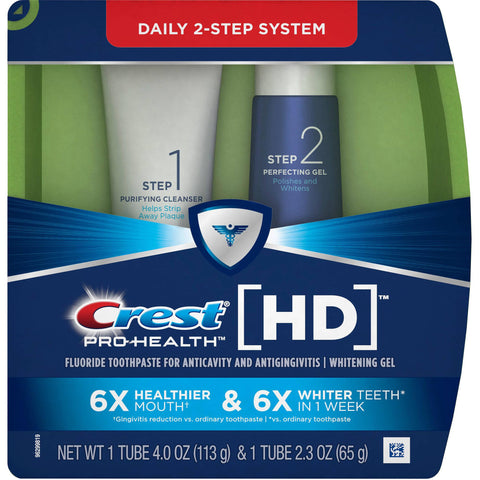 Crest Pro-Health HD Daily Two-Step Toothpaste System 4.0oz and 2.3oz Tubes - Dentist.net