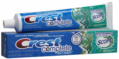 Crest Complete Whitening Plus Scope Toothpaste - Dentist.net