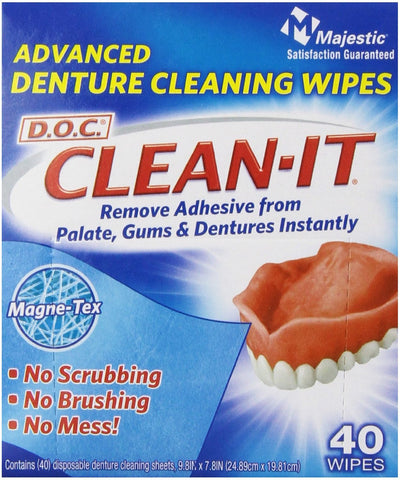 Dentist On Call Denture Adhesive Remover Wipes - Dentist.net