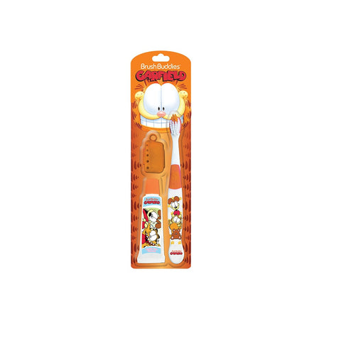 Brush Buddies Garfield Kids Travel Brushing Kit - Dentist.net