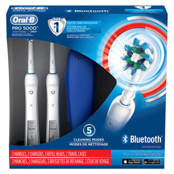 Oral-B Pro Care 5000 Dual Handle Rechargeable Toothbrush with Bluetooth - Dentist.net