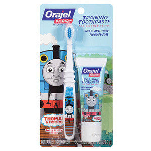 Orajel Toddler Training Toothpaste with Toothbrush - Dentist.net