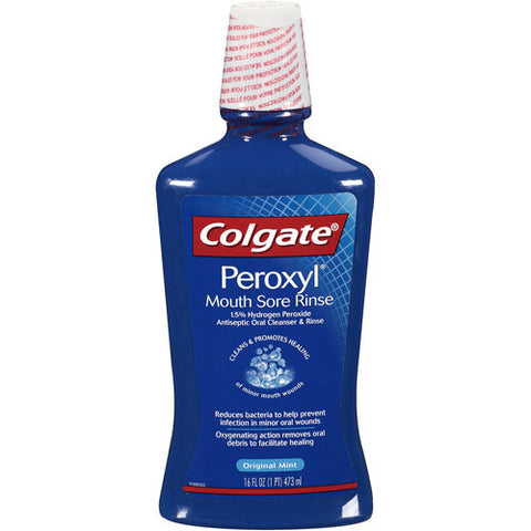 Colgate Peroxyl Antiseptic Oral Cleanser - Dentist.net
