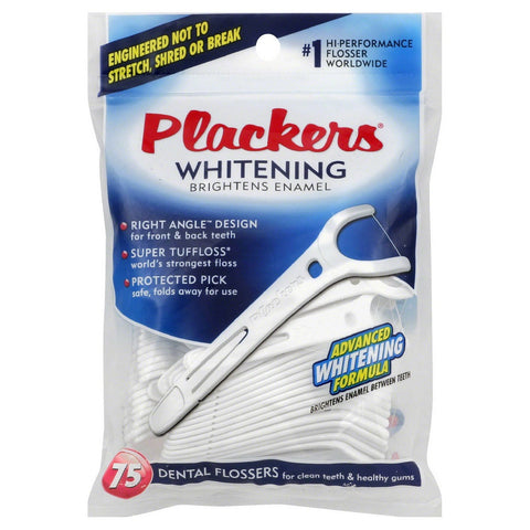 Plackers Whitening Flossers - Right Angle Design - Dentist.net