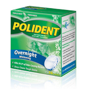 Polident Overnight Whitening Denture Cleanser - Dentist.net