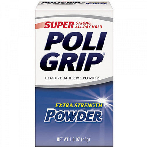 Super PoliGrip Denture Adhesive Powder Extra Strength -