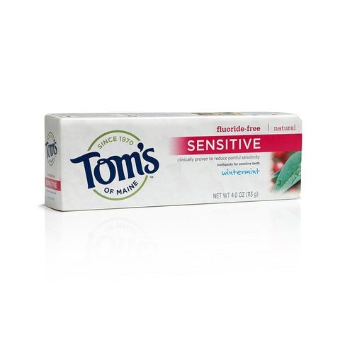 Tom's of Maine Natural Fluoride Free Toothpaste for Sensitive Teeth - Sensitive wintermint 4oz