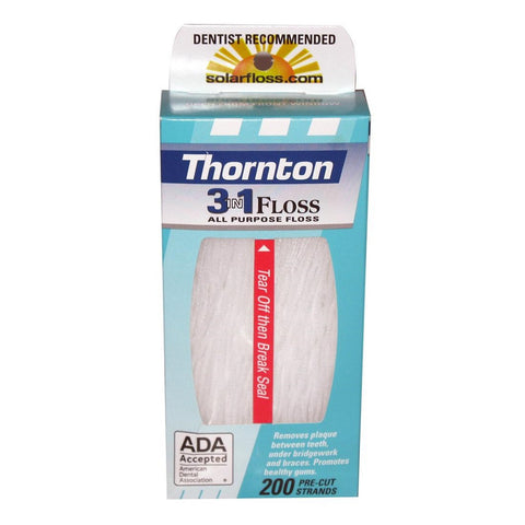 Thornton 3in1 Floss - 200 Count Regular