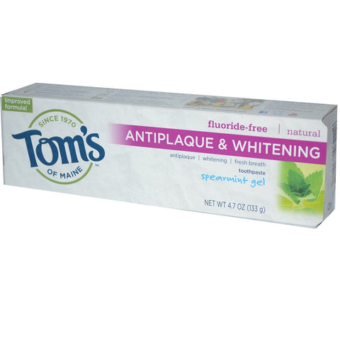 Tom's of Maine Natural Anti-Plaque plus Whitening Gel Toothpaste -