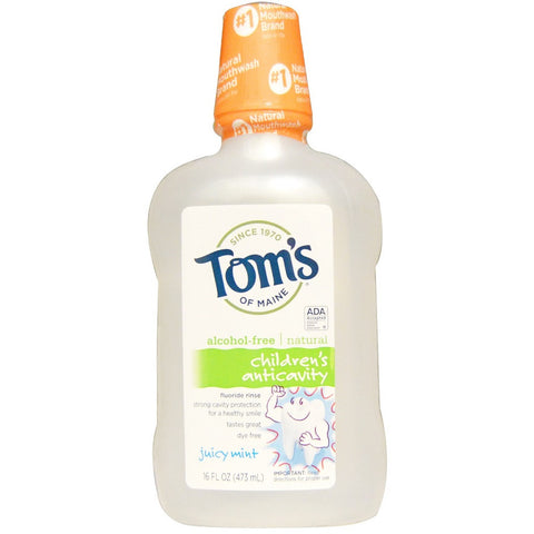 Tom's of Maine Anticavity Flouride Rinse - Children's Juicy Mint 16oz - 1