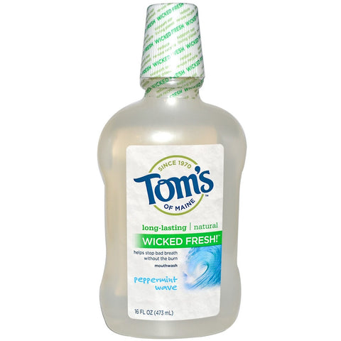 Tom's of Maine Long-Lasting Wicked Fresh Mouthwash - Peppermint Wave 16 oz - 1