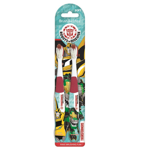 Brush Buddies Transformers Robots in Disguise Toothbrush 2 Pack - Dentist.net