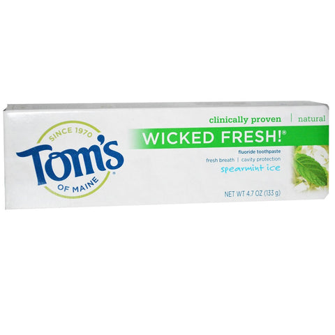 Tom's of Maine Wicked Fresh Toothpaste - Spearmint Ice 4.7 oz - 1