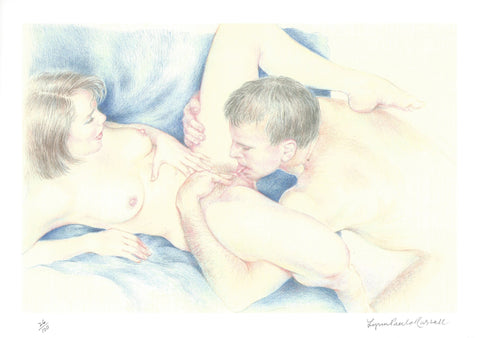 LYNN PAULA RUSSELL    -    ORIGINAL PRINT OF DRAWING       -       IN FULL COLOUR.