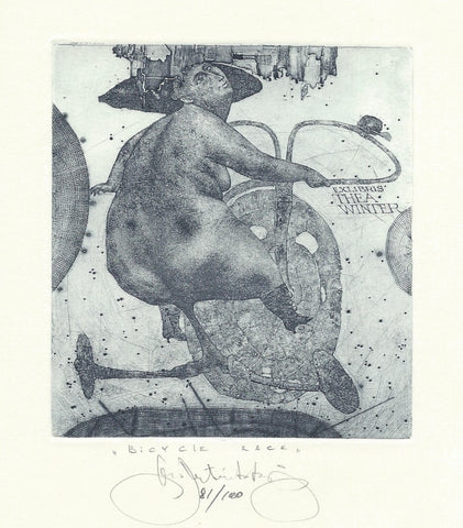 KONSTANTIN ANTIOUKHIN    -   ORIGINAL    -    ETCHING WITH AQUATINT ON COPPER  -      SIGNED.