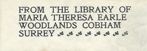 "WILLIAM MORRIS     -    LABEL / EXLIBRIS    -    "" IN GOLDEN TYPE""."