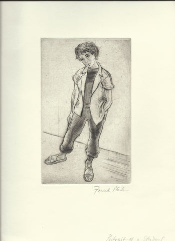 FRANK VERNON MARTIN - Original  Drypoint & Roulette on Copper    -    Signed.