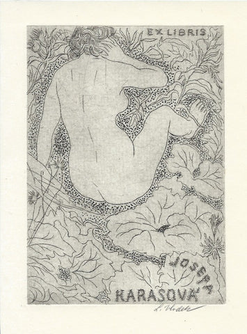 ART NOUVEAU -   Original    -   Drypoint  on Copper     -      Signed.
