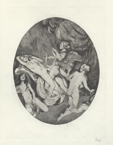 EROS   -  ORIGINAL   -   COPPER ENGRAVING.