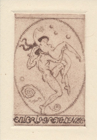 ART NOUVEAU   -    COPPER  ETCHING   -   ORIGINAL