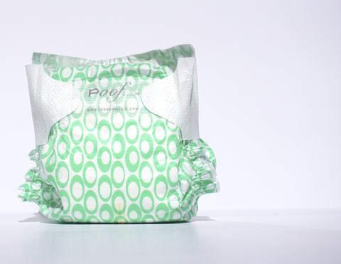 case of poof diapers: green loops - poof diapers - 1