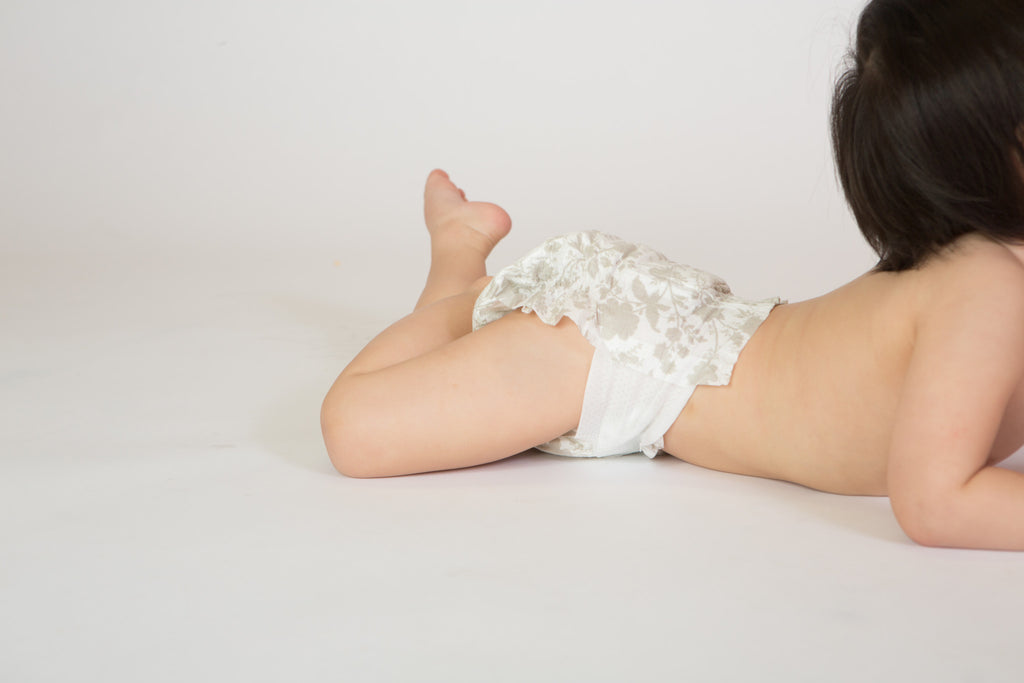 case of poof diapers: taupe chinoiserie - poof diapers - 9
