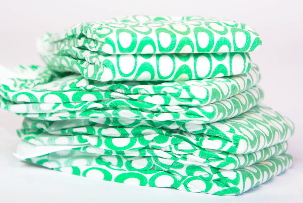 case of poof diapers: green loops - poof diapers - 10