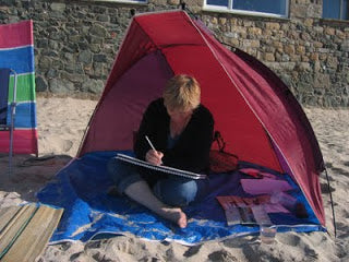 Sketching on Porthmeor Beach