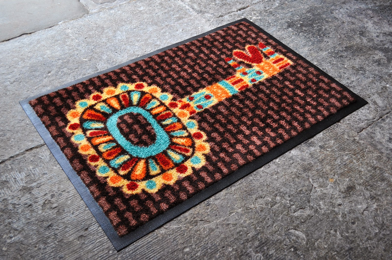 Heart Key Machine Washable Doormat