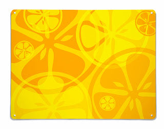 'Oranges and Lemons' Magnetic Notice Board by Beyond the Fridge