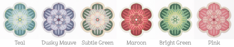 Succulent placemats in six colours by Beyond the Fridge