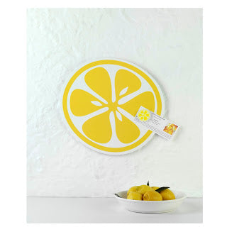 Citrus Slice design magnetic notice board by Beyond the Fridge