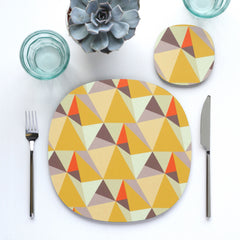 Shards placemat and coaster - summer