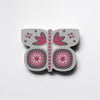 Grey Butterfly Fridge Magnet by Beyond the Fridge