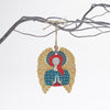 angel design christmas tree decoration with yellow wings
