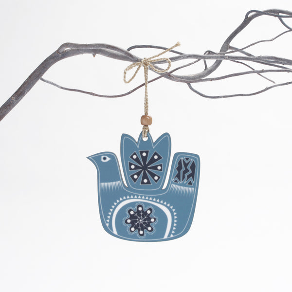 blue snowbird christmas tree decoration