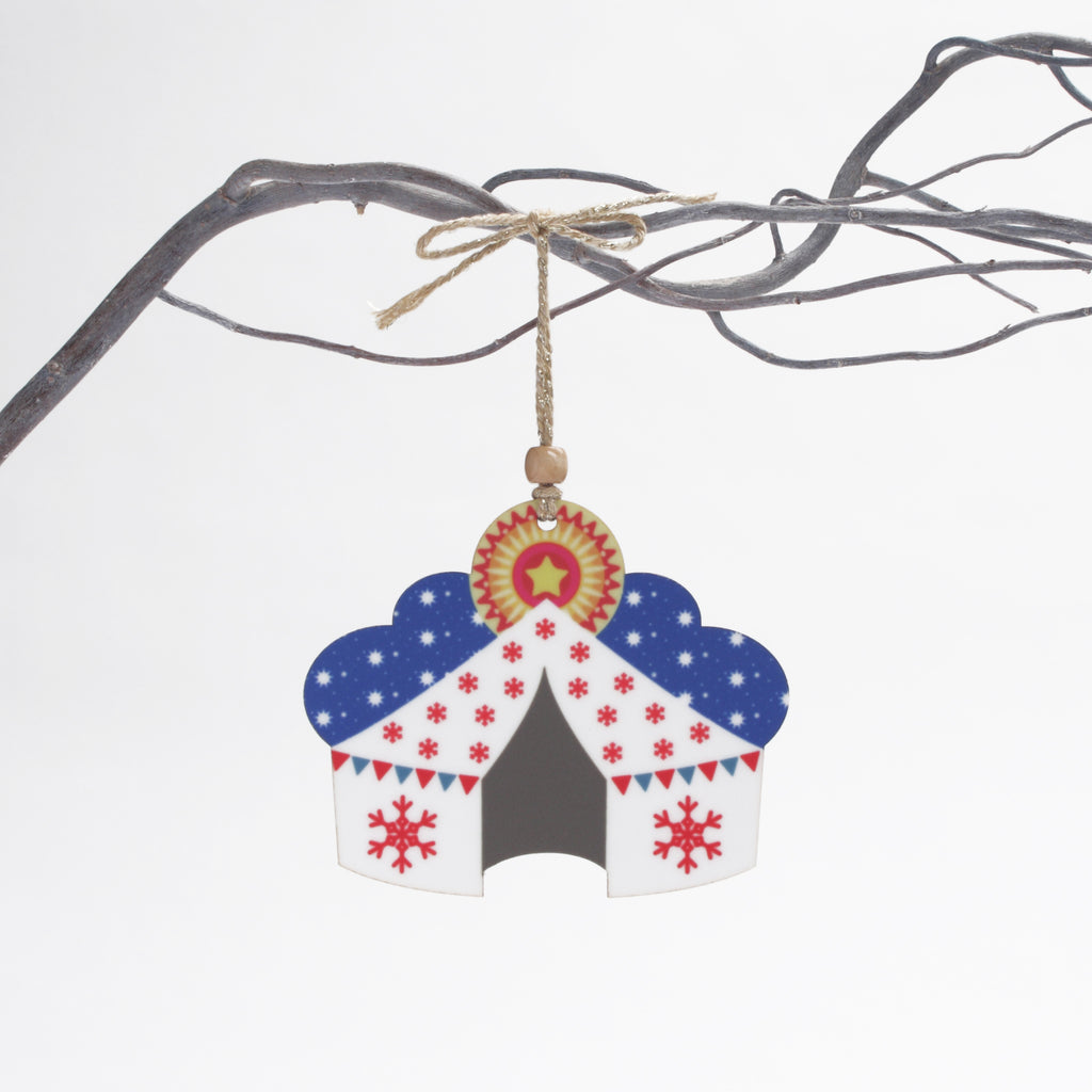 christmas tent wooden tree decoration