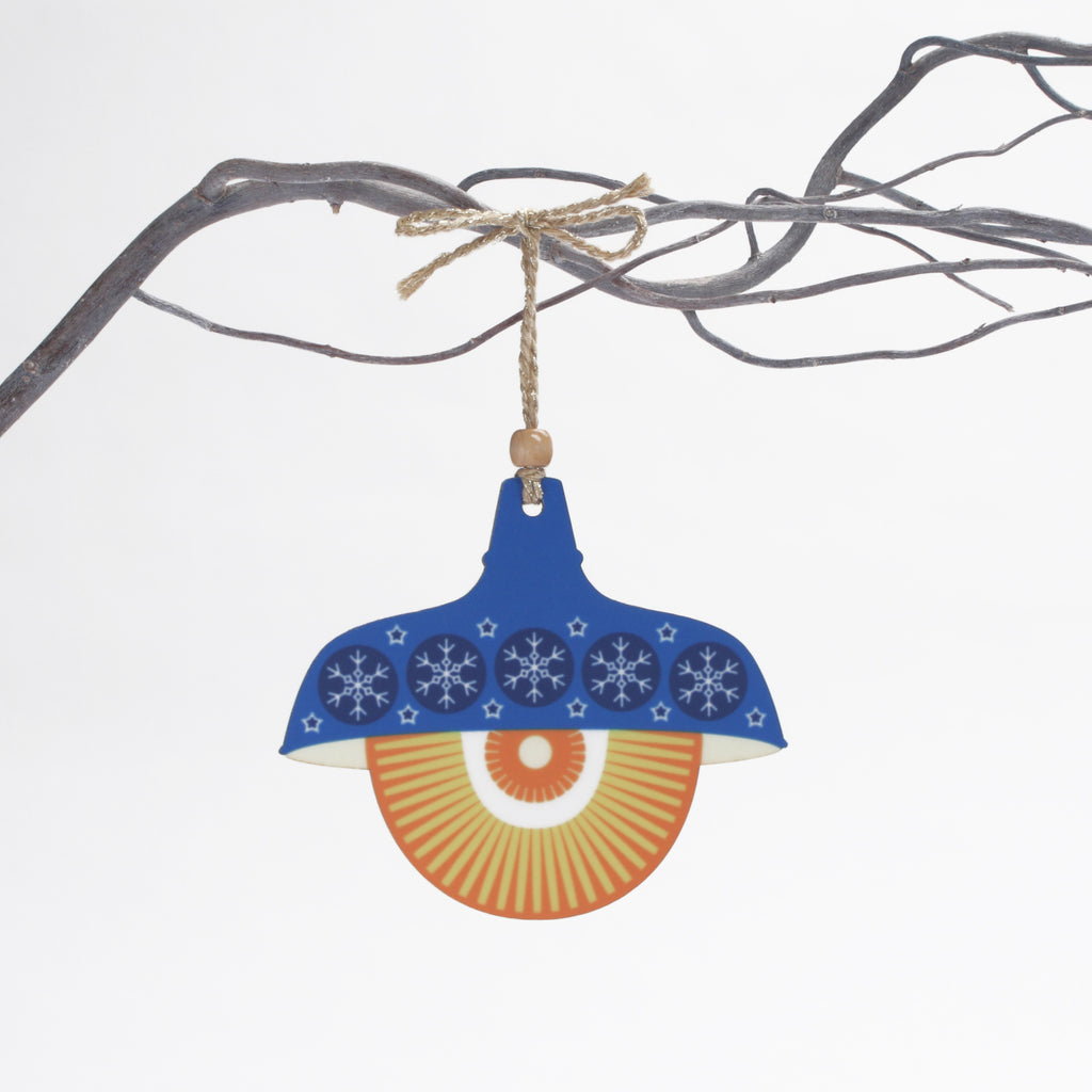 blue retro pendant light design christmas decoration
