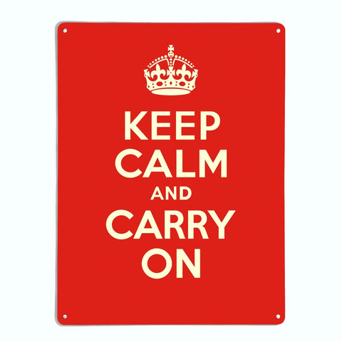 'Keep Calm - Red' - Large Magnetic Notice Board / Wall Art