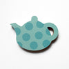 Turquoise Spotty Teapot Fridge Magnet by Beyond the Fridge